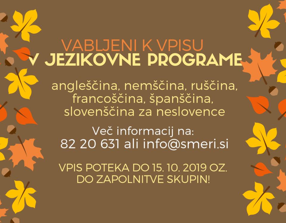 Jesenski razpis, jesen 2019, spletna stran